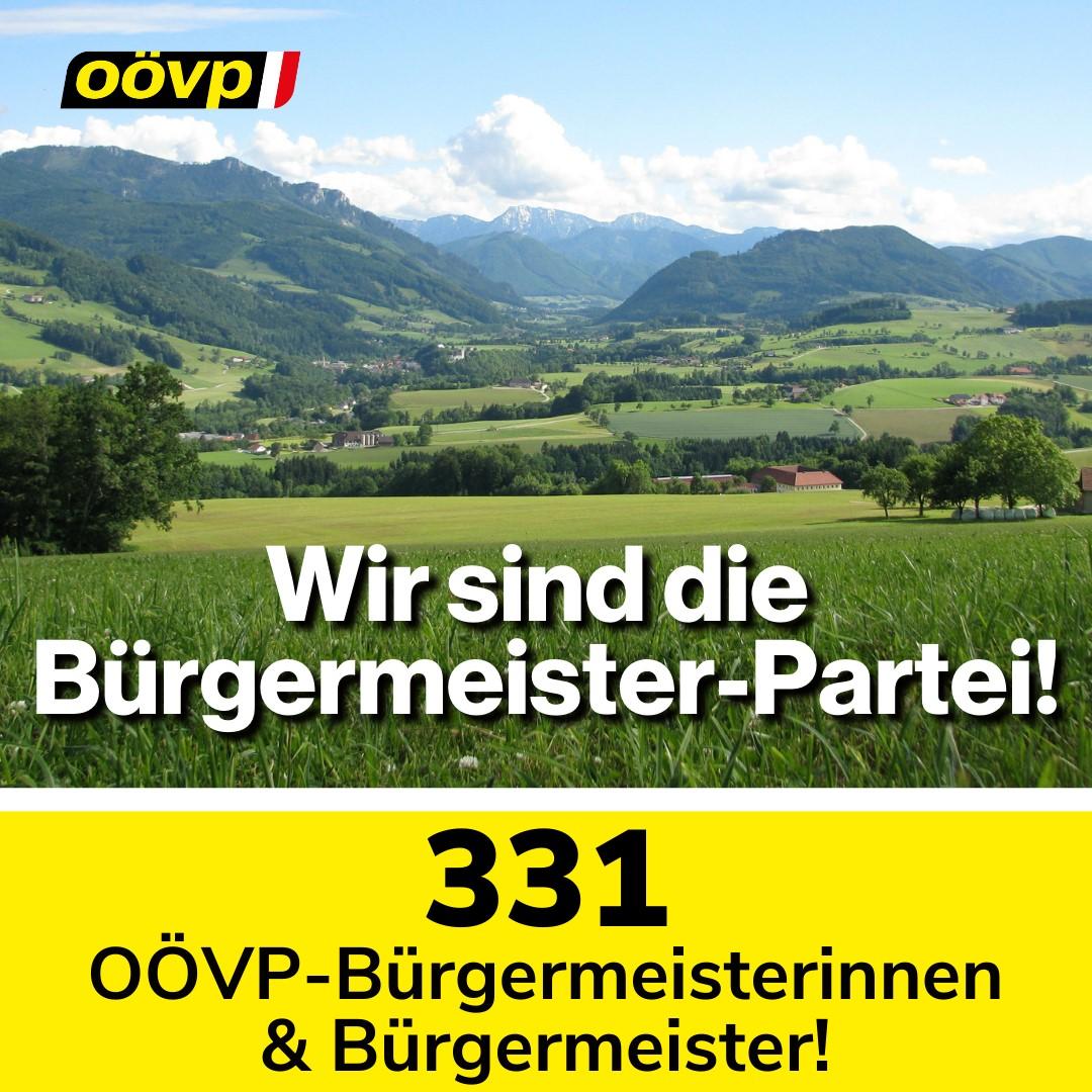 OÖVP stellt in 331 Gemeinden den Bürgermeister und eroberte 23 Bürgermeistersessel