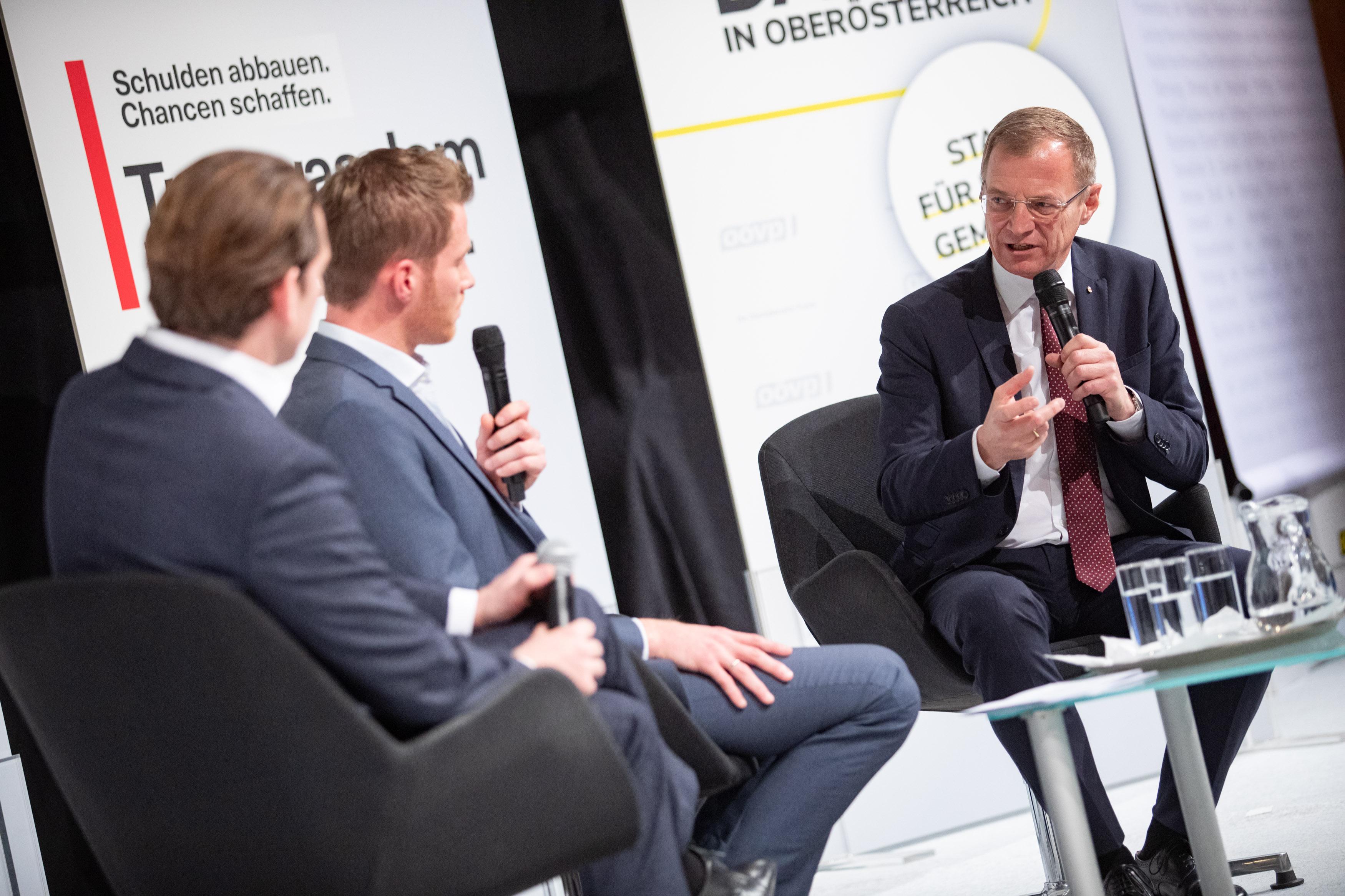 OÖVP diskutiert mit Bundeskanzler Sebastian Kurz zentrale Gemeindethemen in Bad Schallerbach